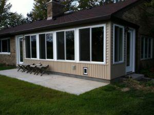 addition all seasons room heated room with large windows