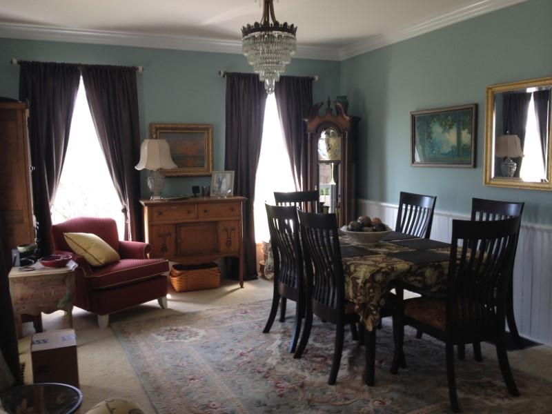dining room chandelier historic crown moulding