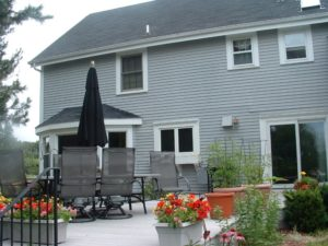 outdoor living area grill zone back deck