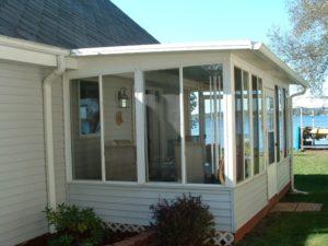 sunroom lake house addition full height windows
