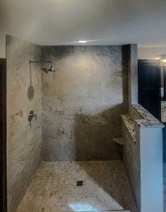 okemos walk in shower before glass